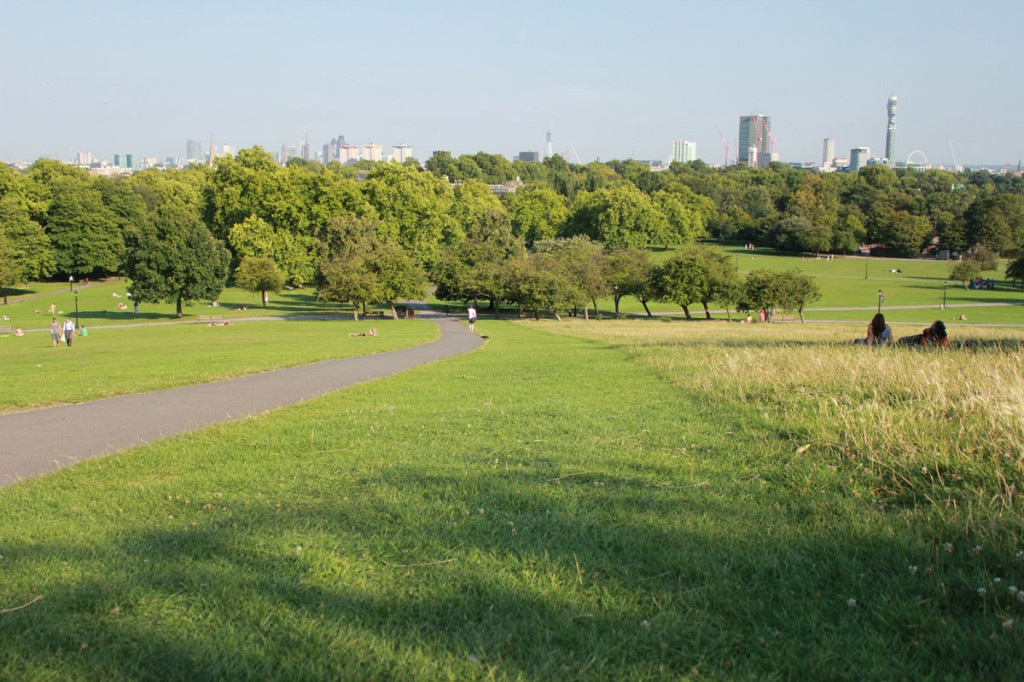 Primrose Hill Park overlooking London