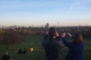 Photographing London from Primrose Hill