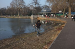Victoria Park pond and pagoda